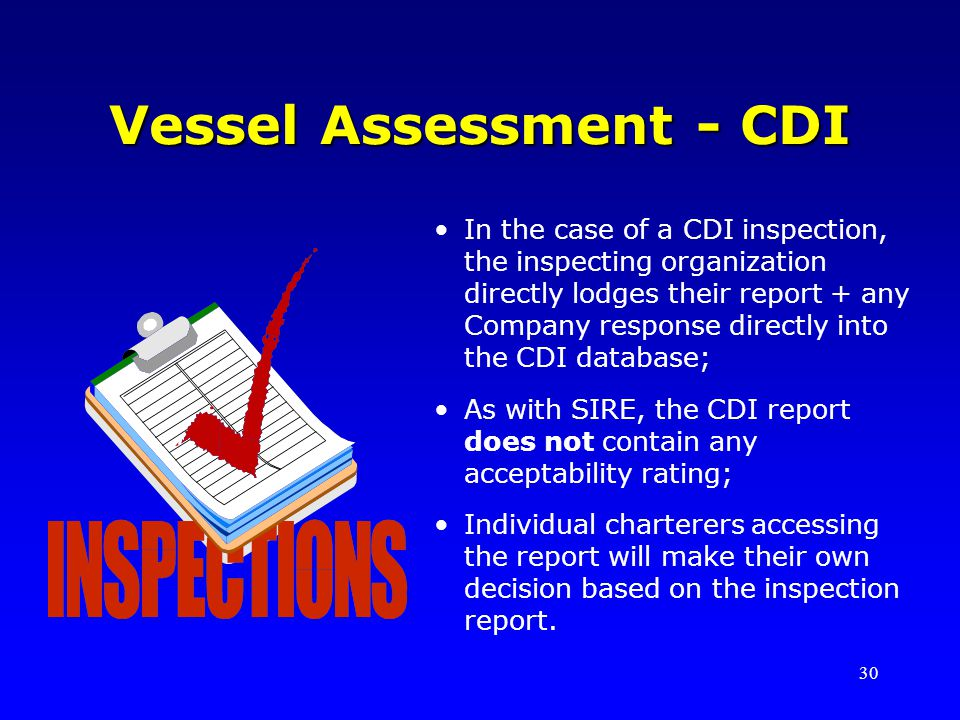 Vessel Assessment - CDI