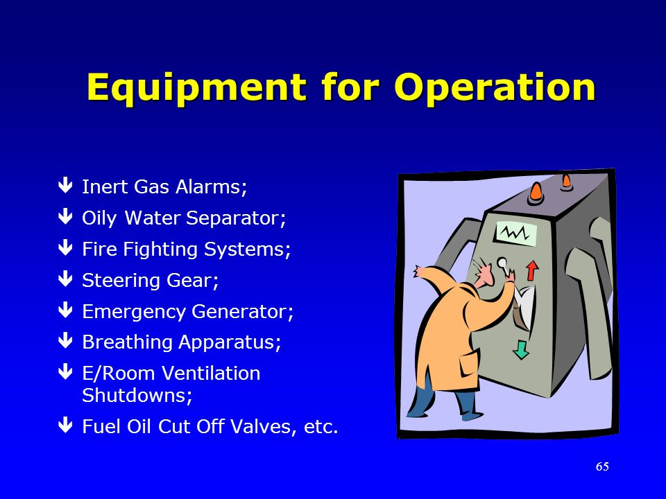 Equipment for Operation