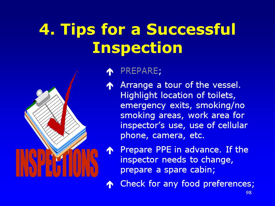 4. Tips for a Successful Inspection