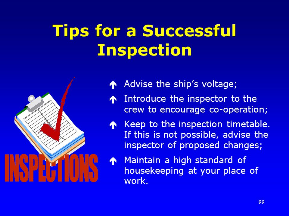 Tips for a Successful Inspection