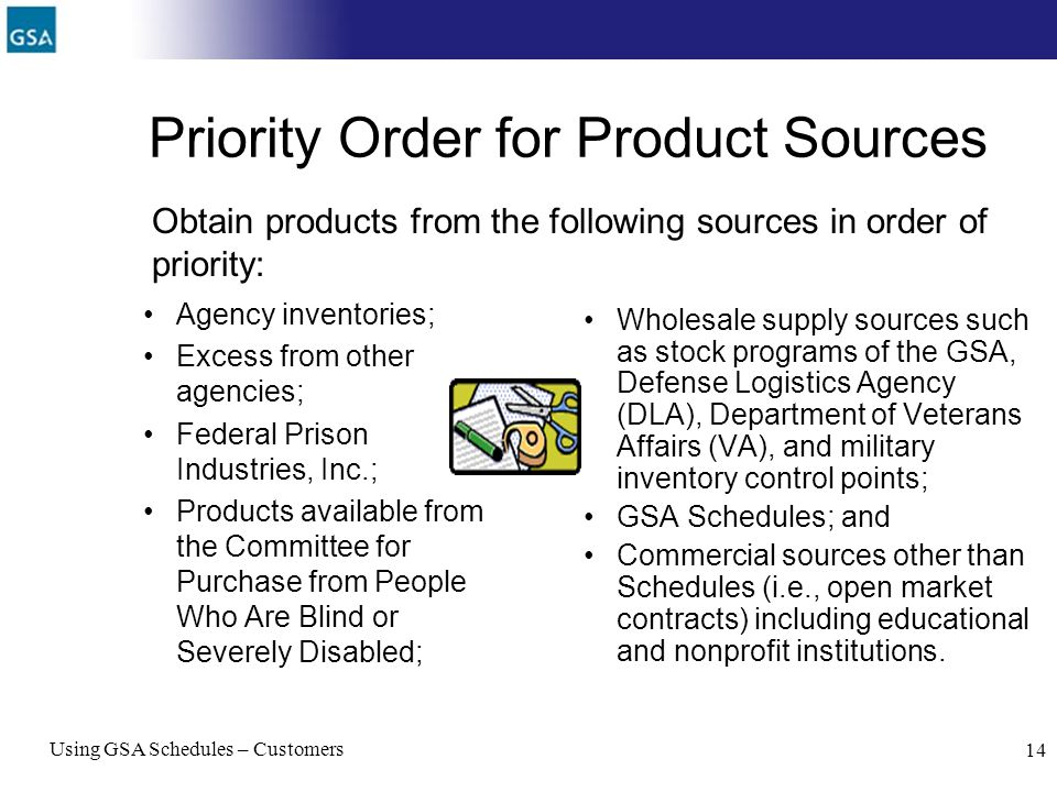 Priority Order for Product Sources