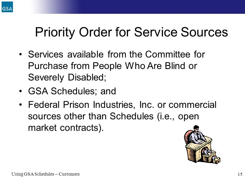 Priority Order for Service Sources