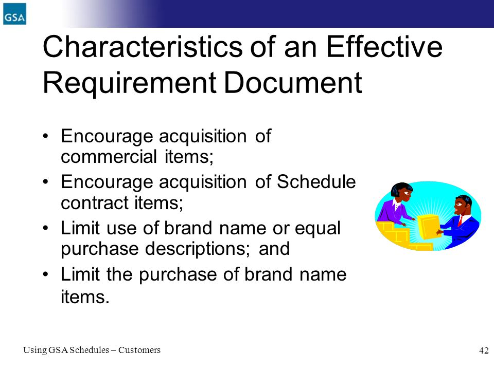 Characteristics of an Effective Requirement Document