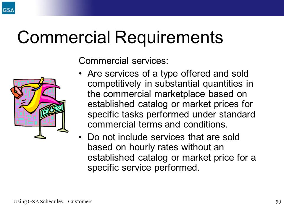 Commercial Requirements