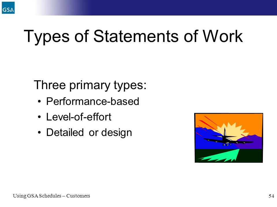 Types of Statements of Work