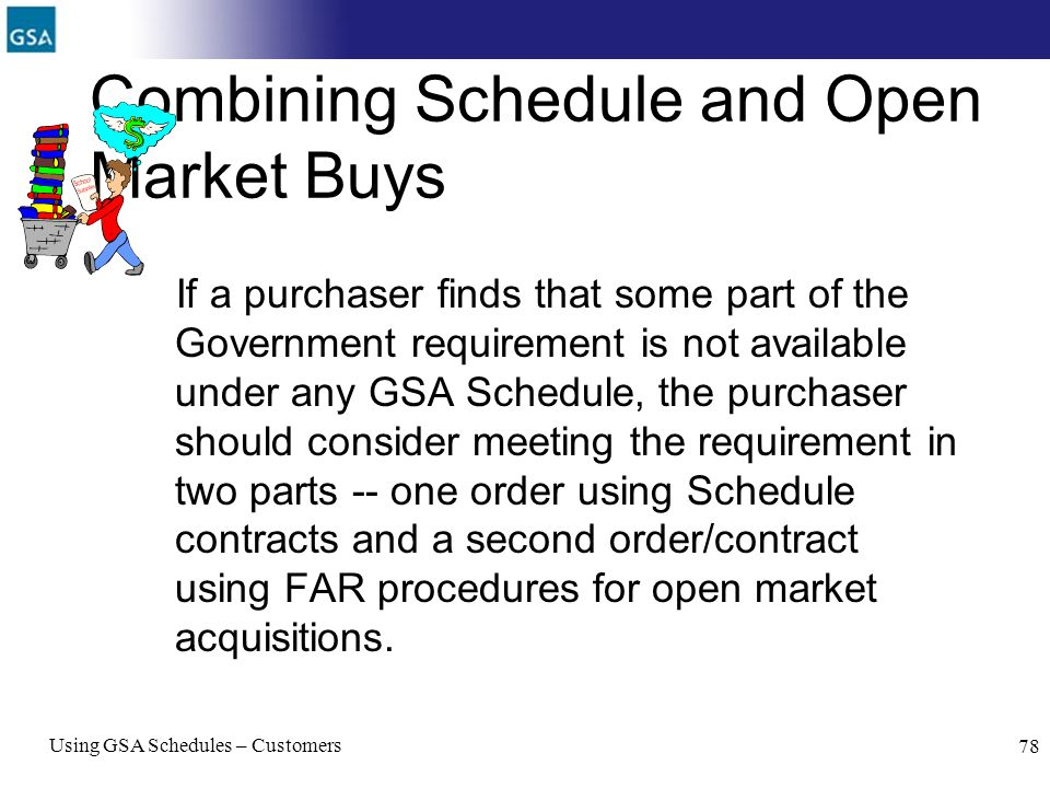 Combining Schedule and Open Market Buys