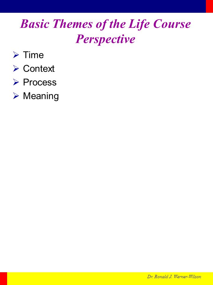 Basic Themes of the Life Course Perspective