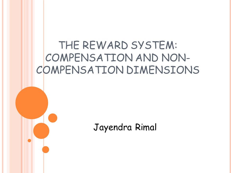 THE REWARD SYSTEM: COMPENSATION AND NON-COMPENSATION DIMENSIONS