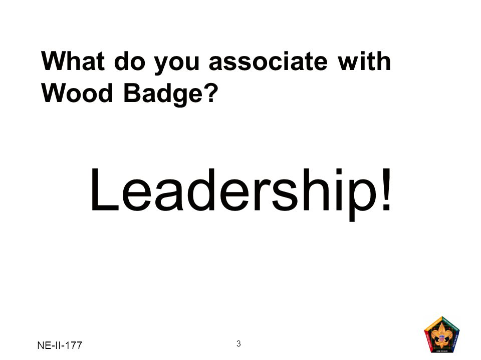 What do you associate with Wood Badge