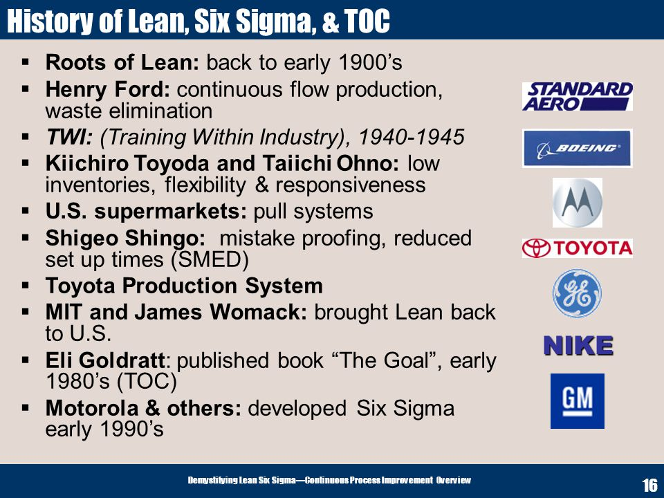 Demystifying Lean Six Sigma Why The Emphasis On Continuous Process
