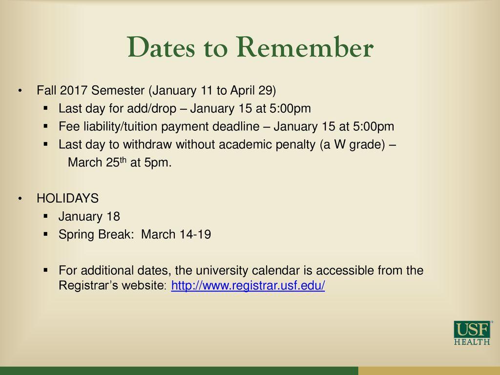 Usf Registrar Calendar.Graduate Student Orientation Ppt Download