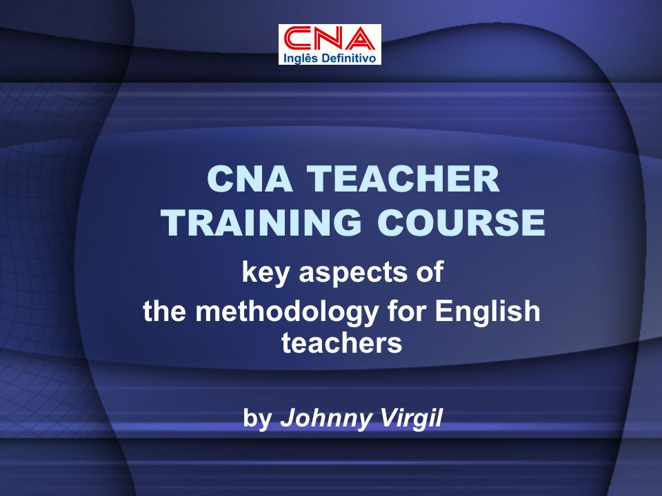 CNA TEACHER TRAINING COURSE