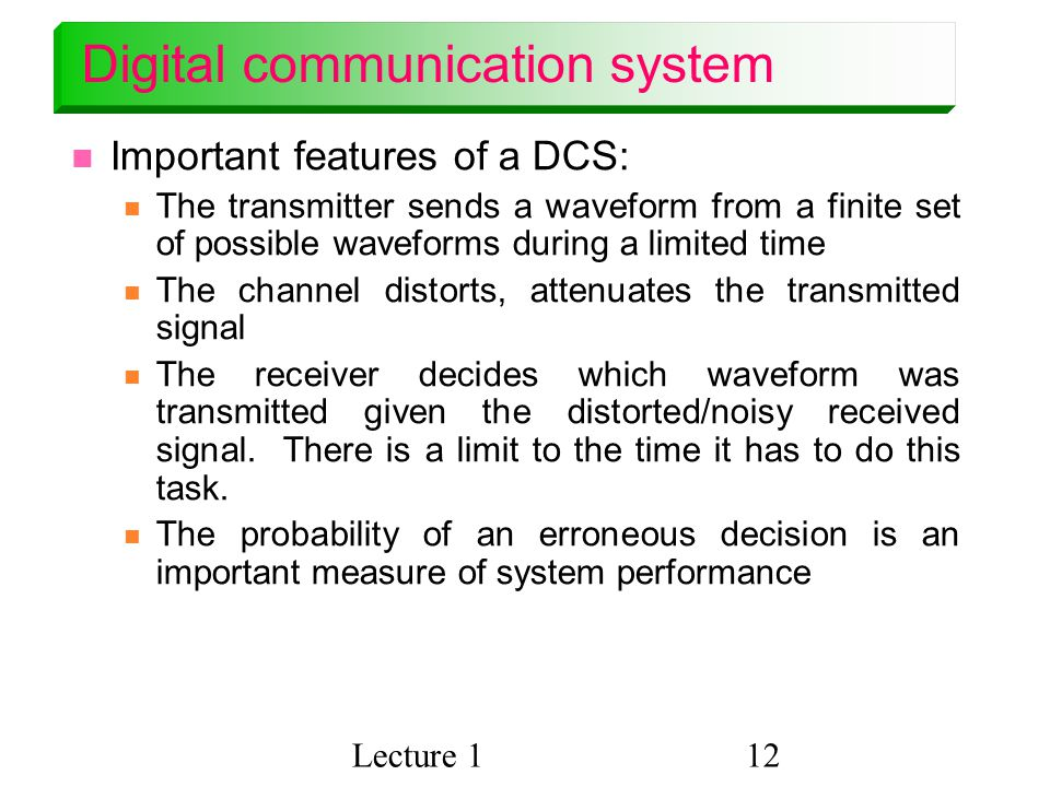 Digital communication system