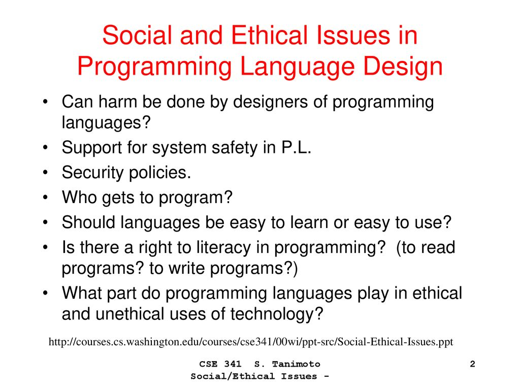 Ethics In Programming Languages And Software Engineering Ppt Download
