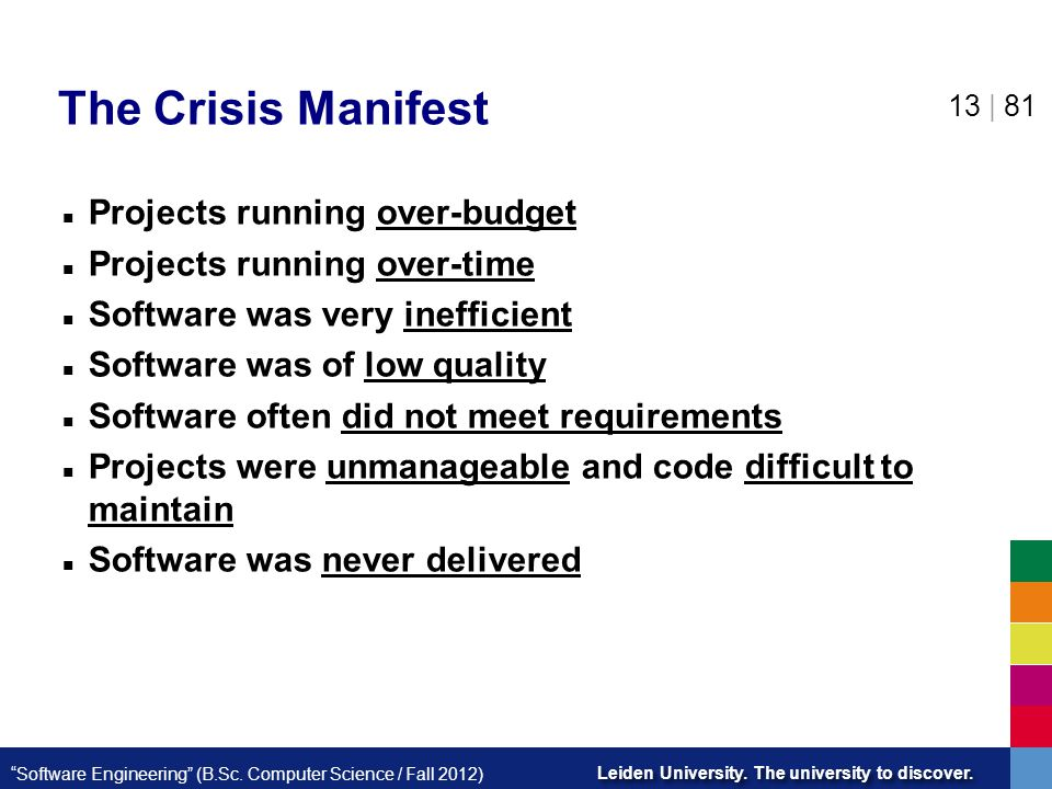 The Crisis Manifest Projects running over-budget