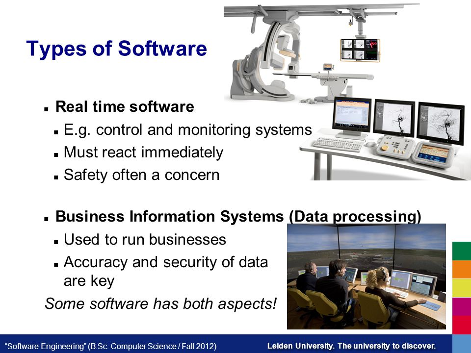 Types of Software Real time software