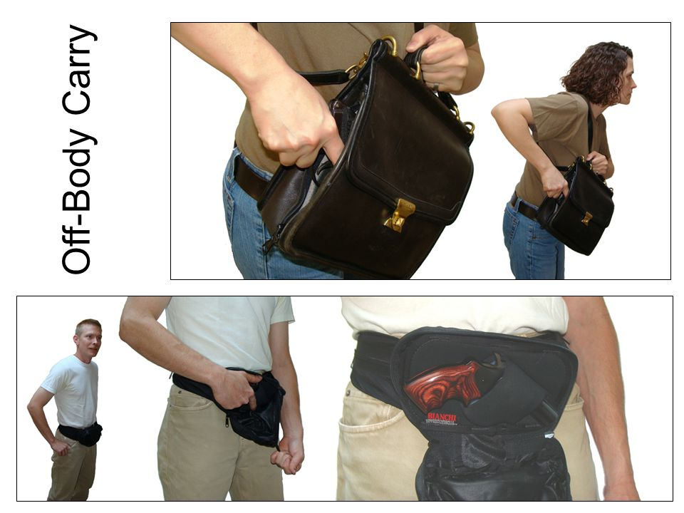 Off-Body Carry Maintaining security. Easy to lose. Purse snatchers. Safety around children.