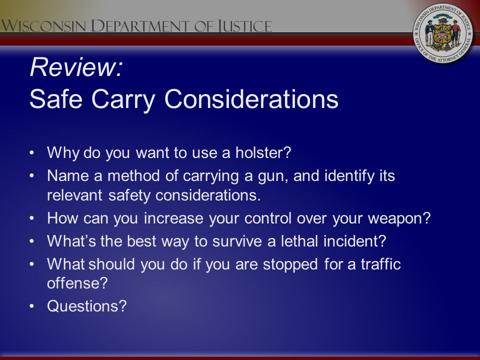 Review: Safe Carry Considerations