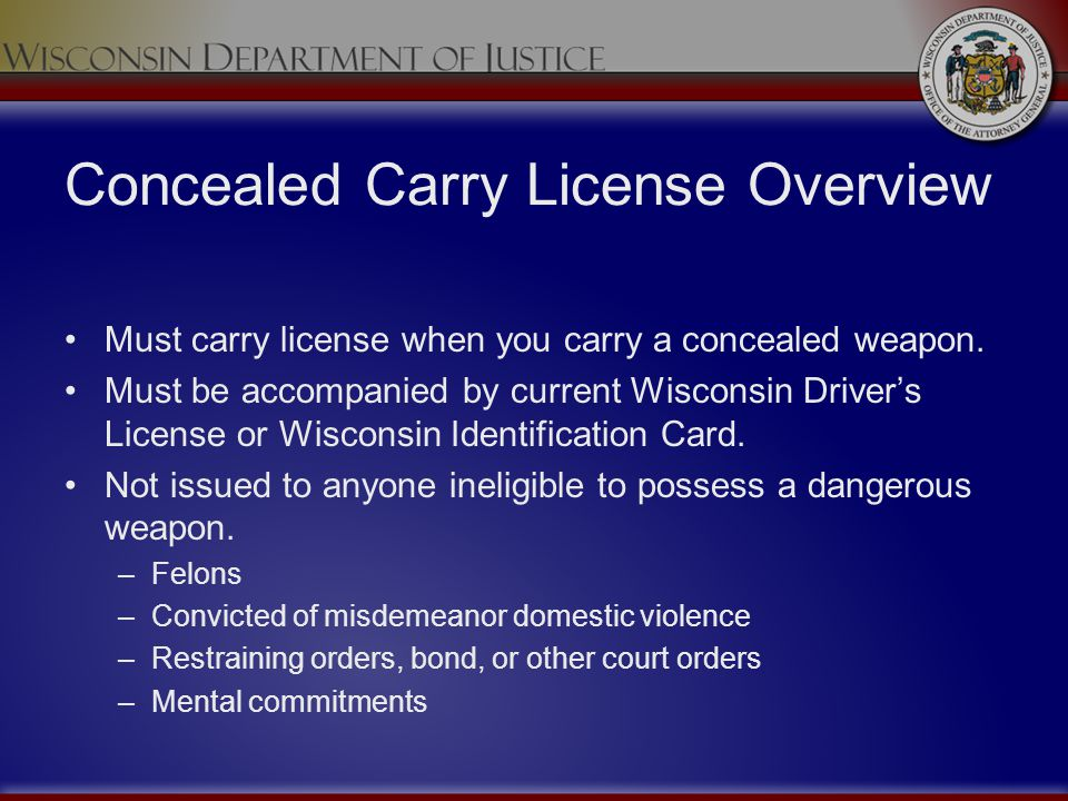 Concealed Carry License Overview