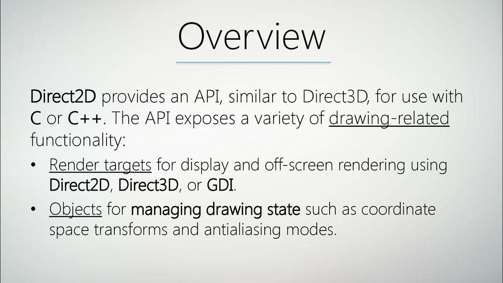 Direct2D Karolis Jodikaitis  - ppt download