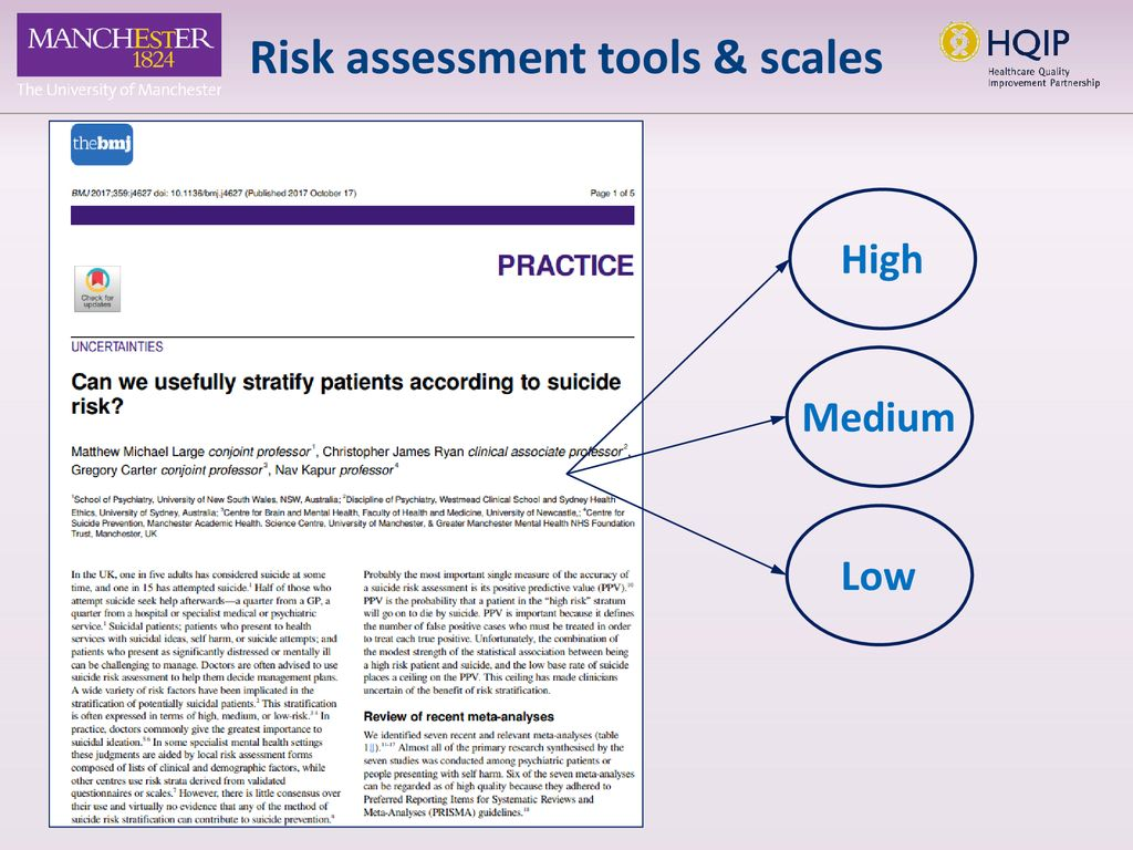 The Assessment Of Clinical Risk In Mental Health Services Ppt Download