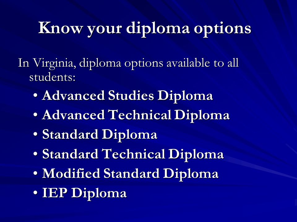 Know your diploma options