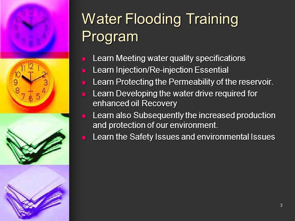 Water Flooding Training Program