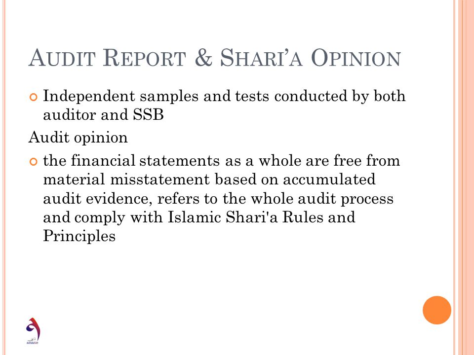 Audit Report & Shari'a Opinion