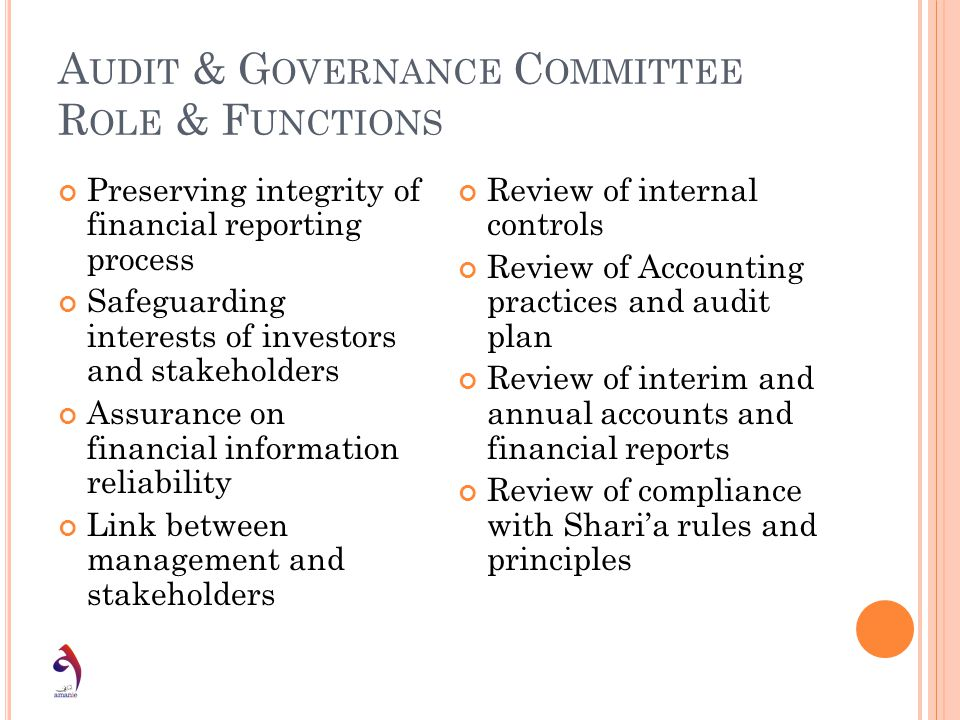 Audit & Governance Committee Role & Functions