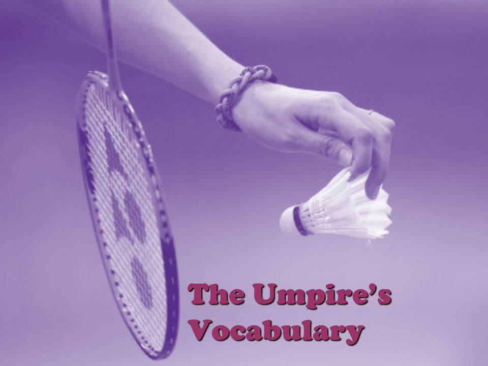 The Umpire's Vocabulary