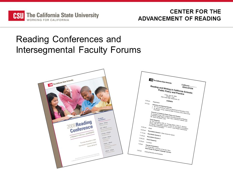 Reading Conferences and Intersegmental Faculty Forums