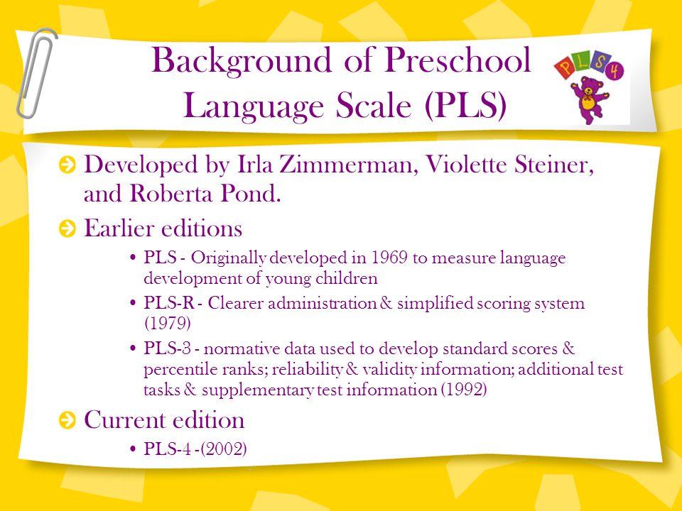 Preschool language scale, fourth edition.
