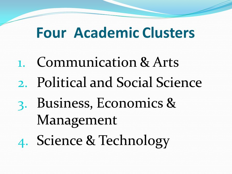 Four Academic Clusters