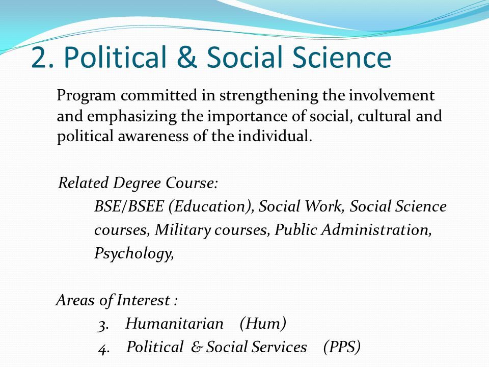 2. Political & Social Science