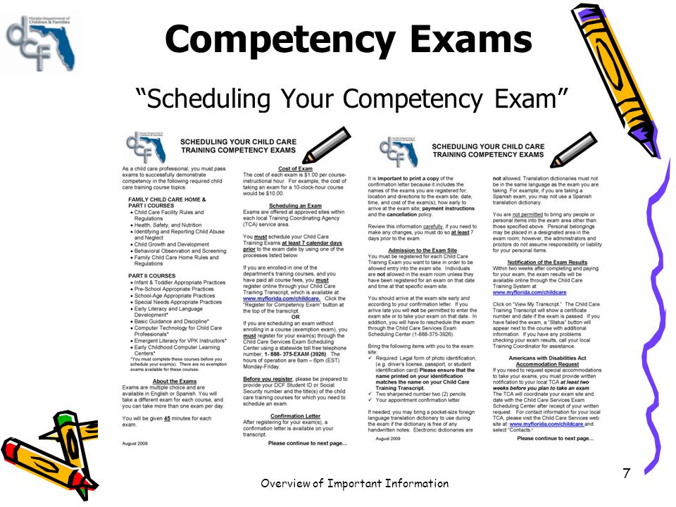 Scheduling Your Competency Exam
