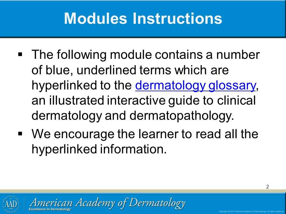 Modules Instructions