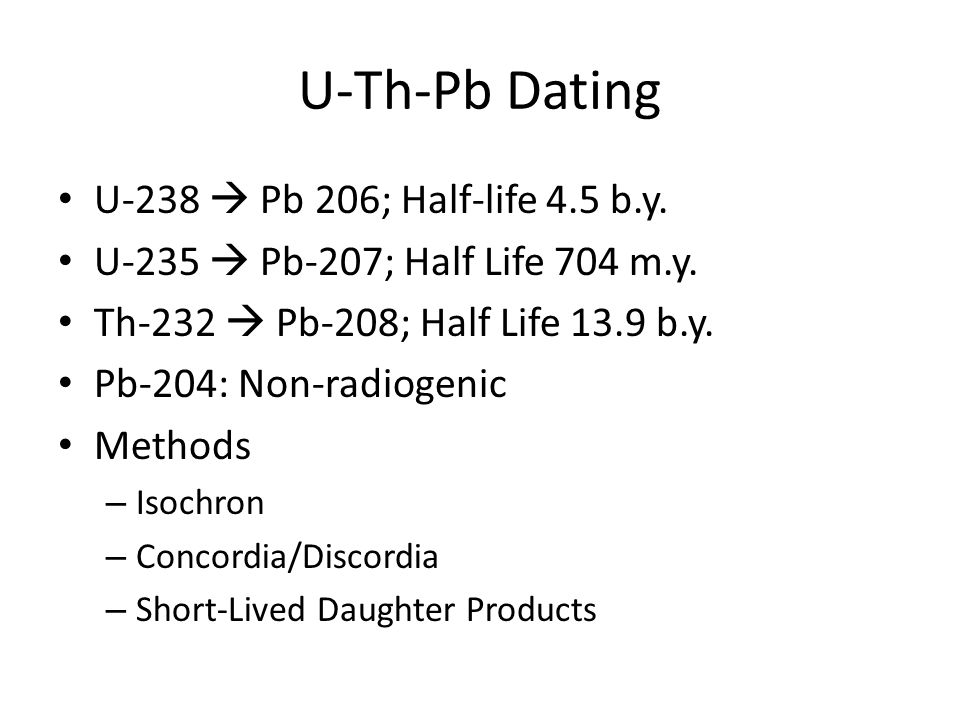 Fission products of uranium 238 dating