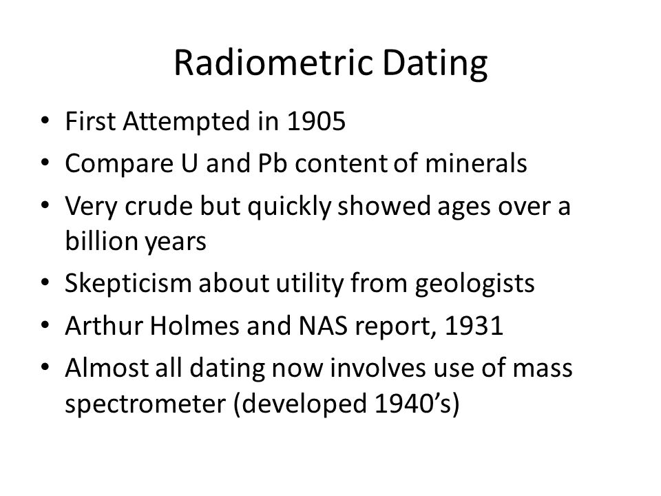 radiometric dating first used