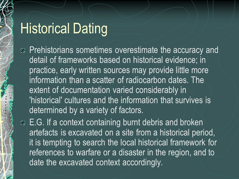 The history of dating