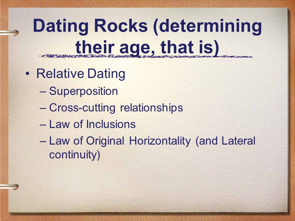 Dating Rocks (determining their age, that is)