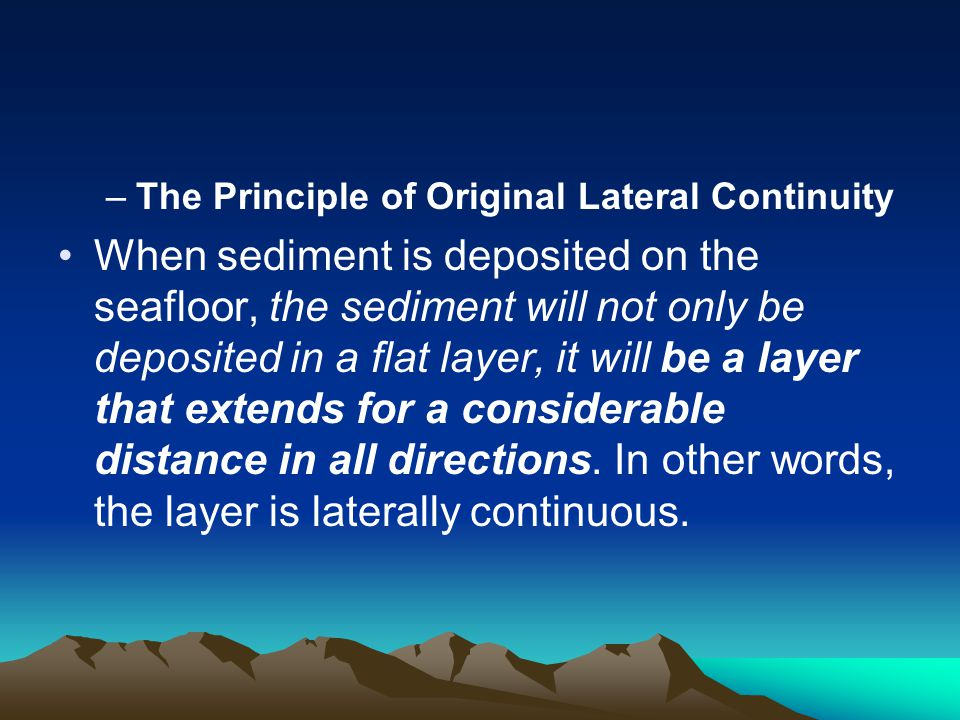 The Principle of Original Lateral Continuity