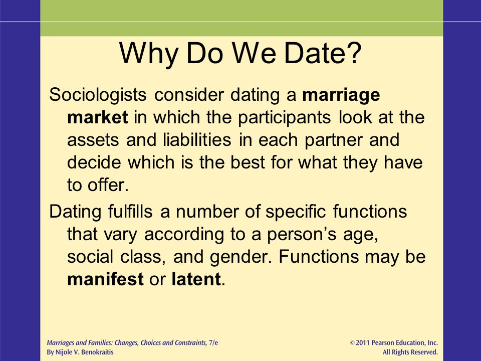 manifest and latent functions of dating