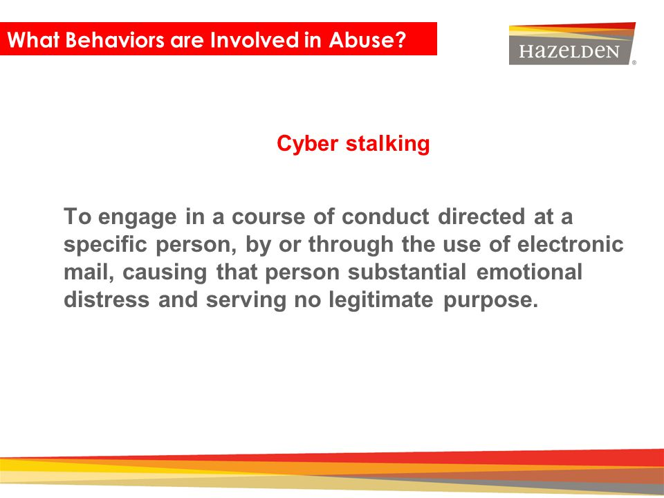 What Behaviors are Involved in Abuse