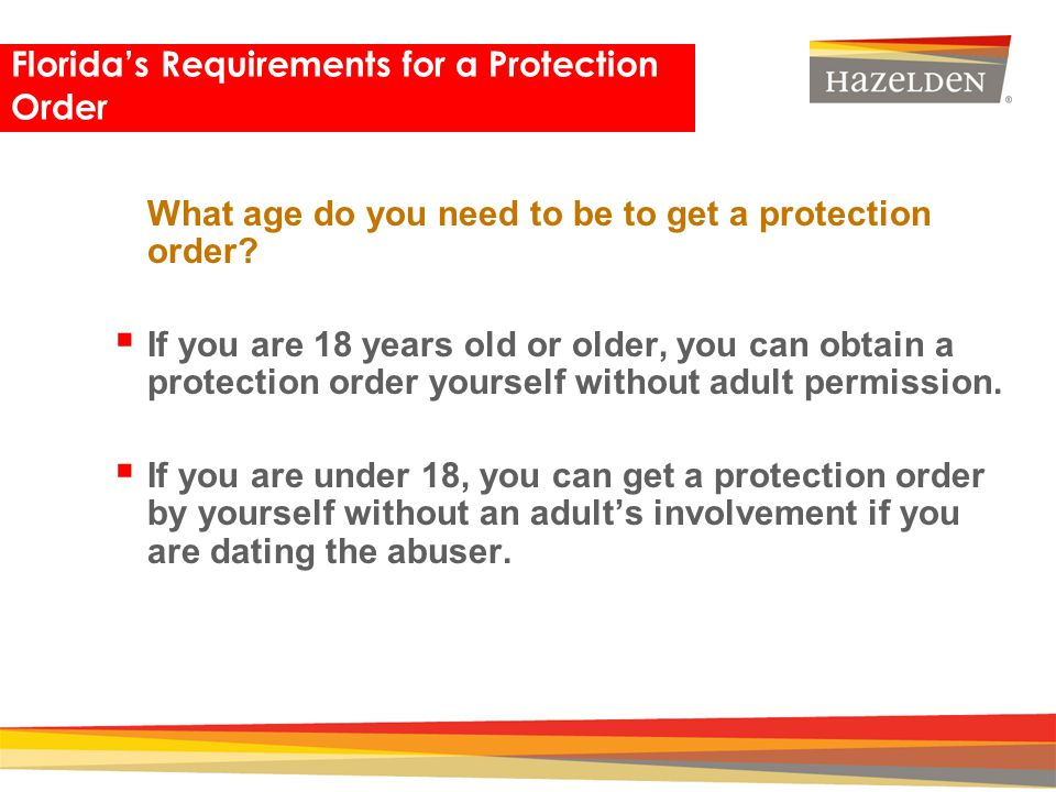 Florida's Requirements for a Protection Order
