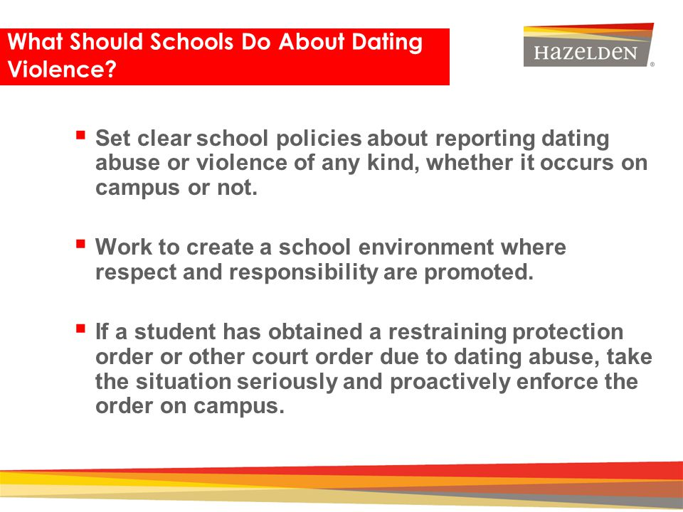 What Should Schools Do About Dating Violence