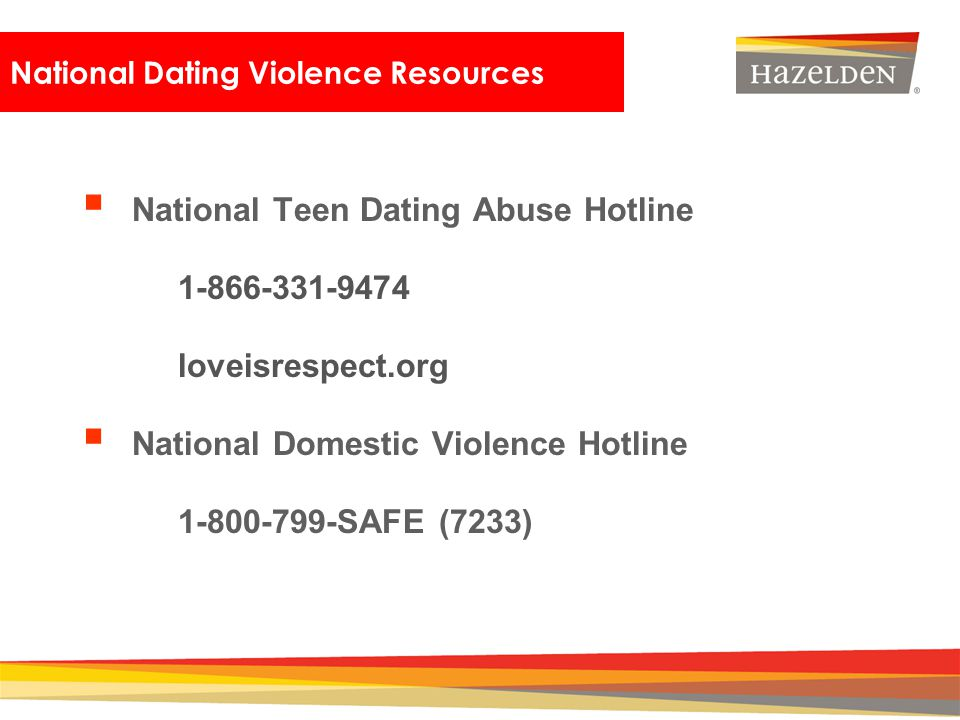 National Dating Violence Resources