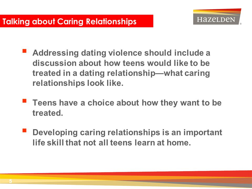 Talking about Caring Relationships