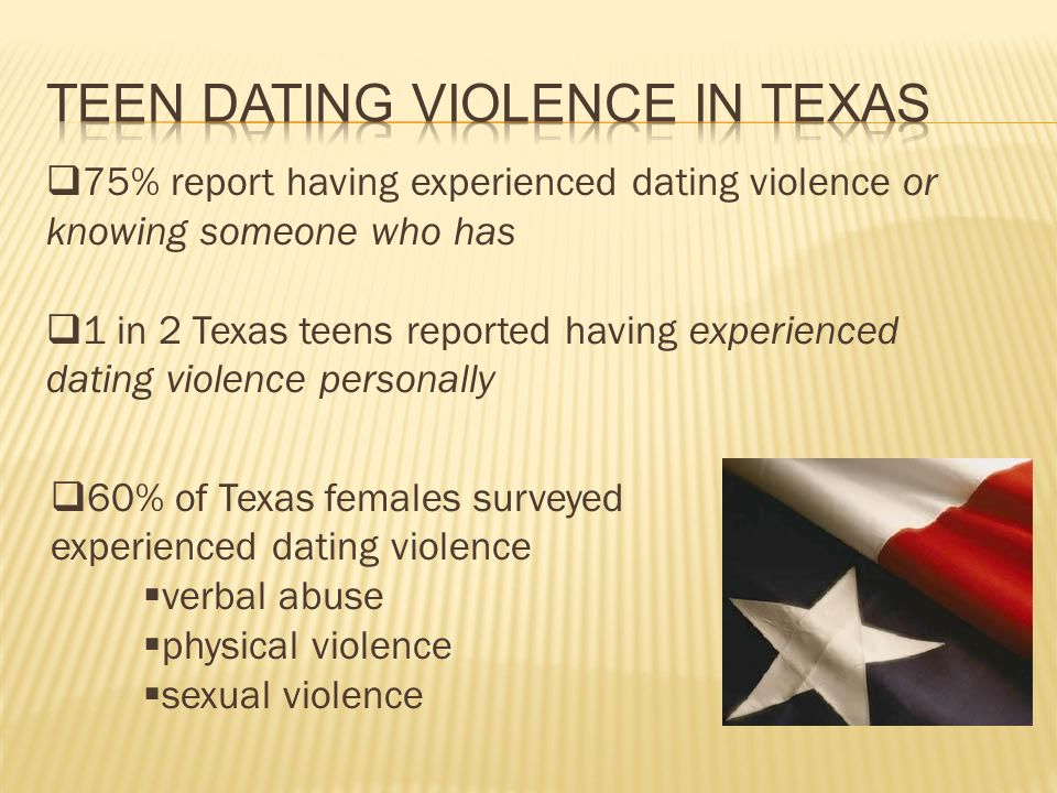 /dating violence/ in texas.