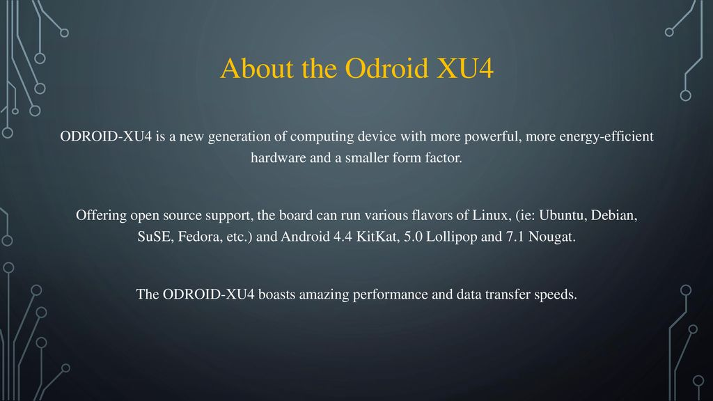 Odroid XU4  - ppt download