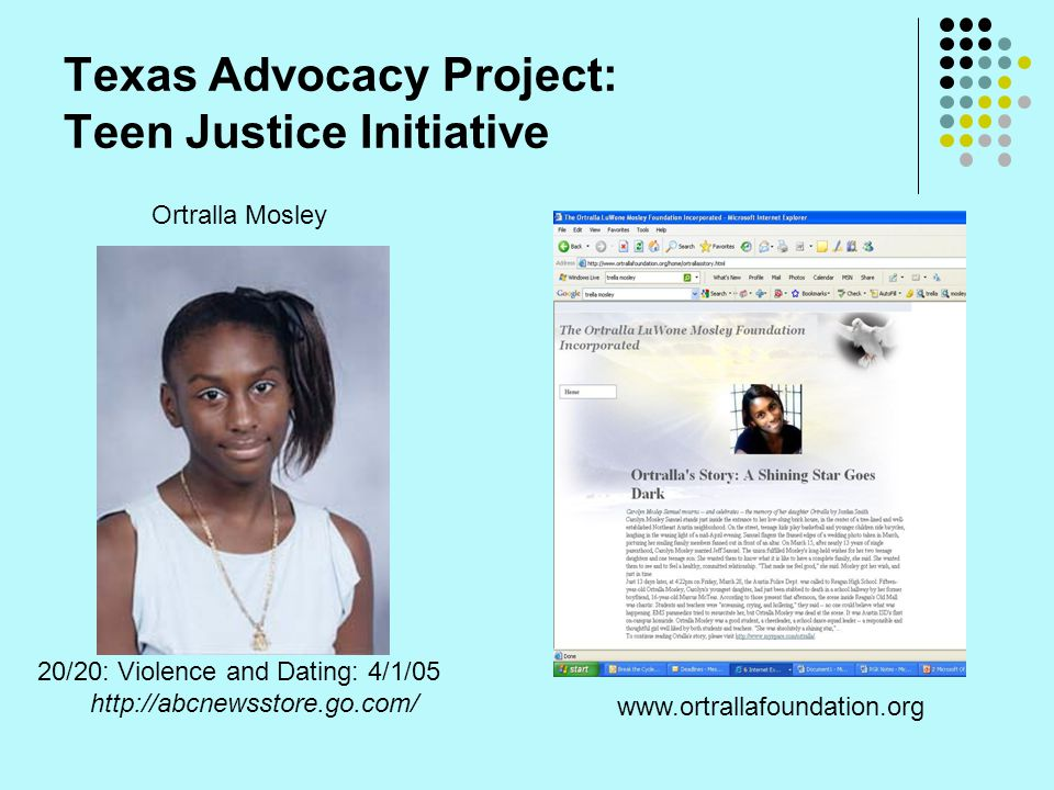 Texas Advocacy Project: Teen Justice Initiative